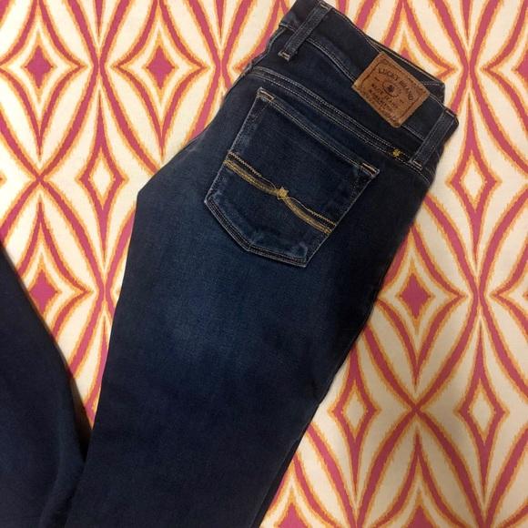 Lucky Brand Denim - Lucky Brand Dark Wash Charlie Baby Boot Jeans-24